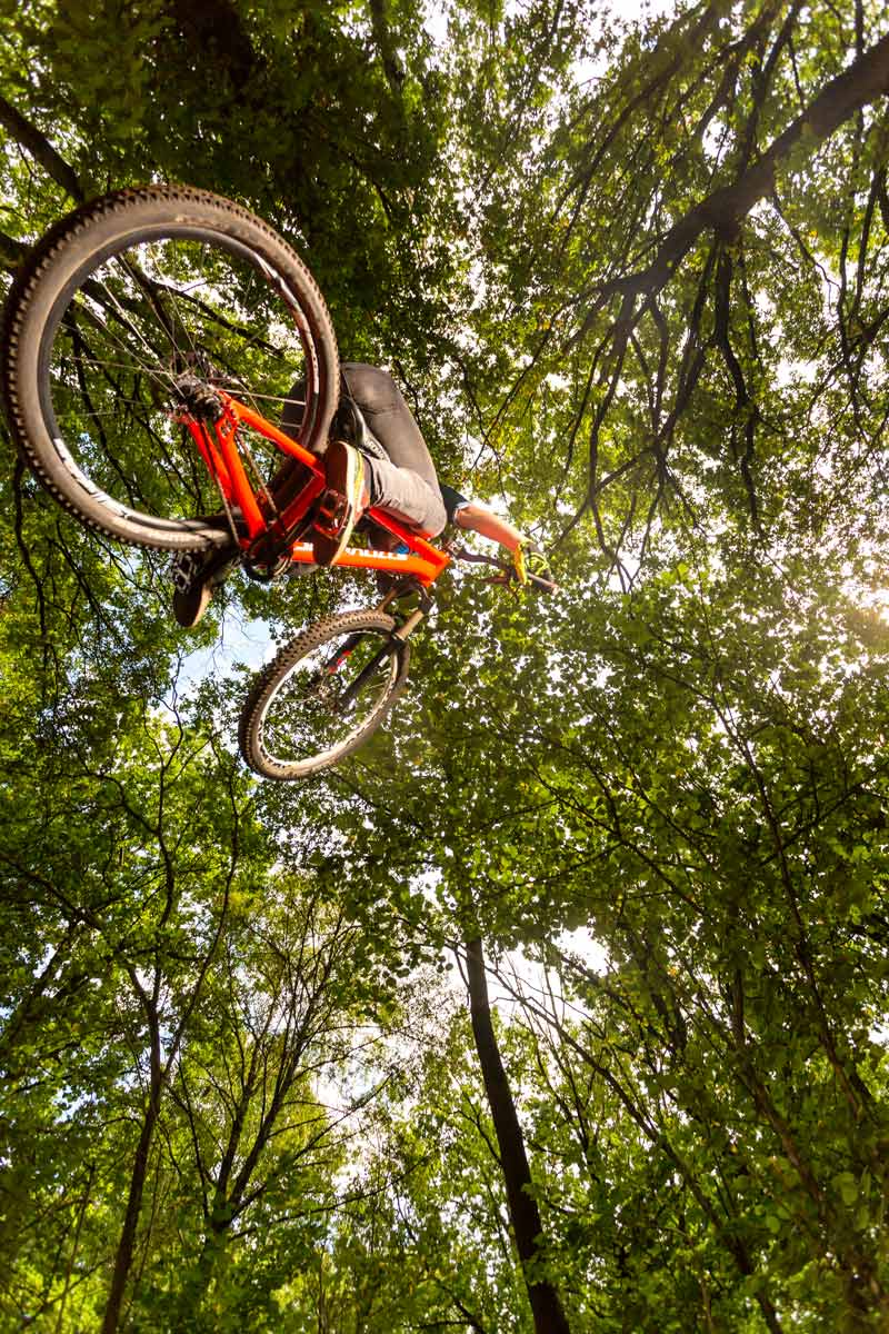 mountainbike action shot
