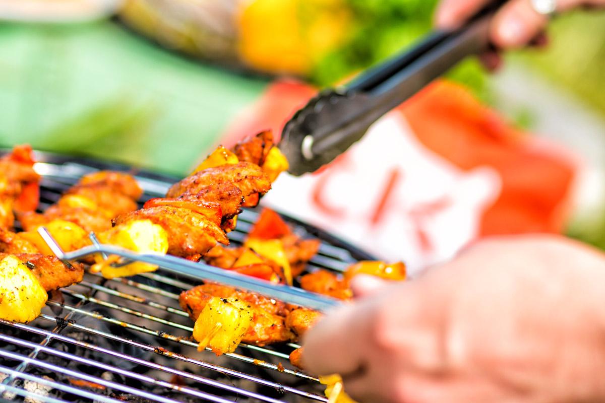 vegan barbecue food shot