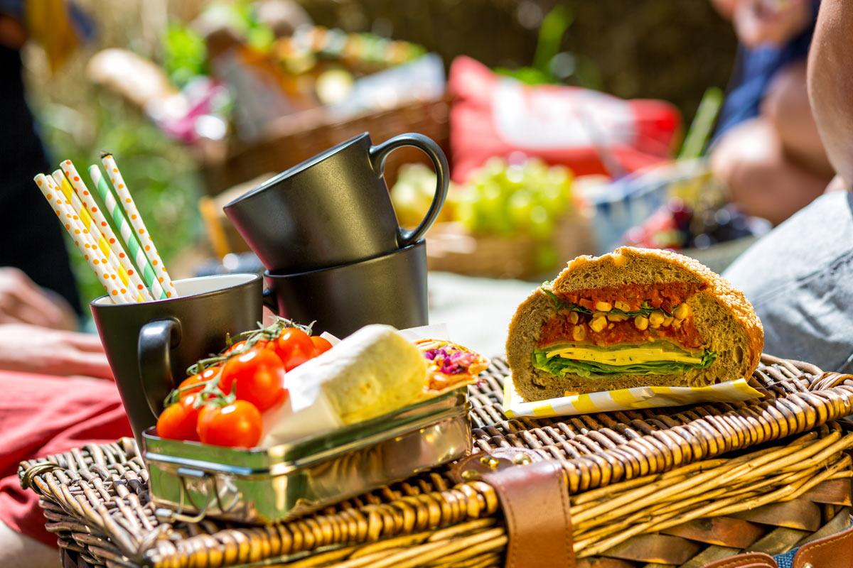 vegan outdoor food shot